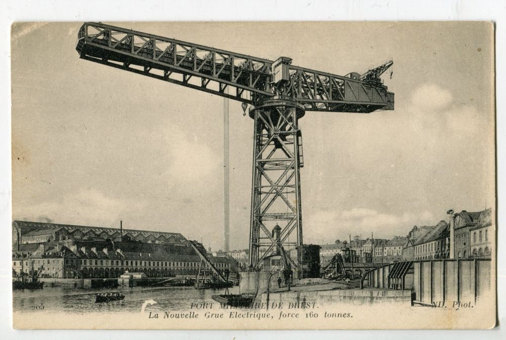 Old Antique Vintage Postcard Brest Military Port France Europe