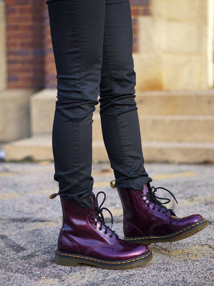 c803479fe2 Purple Doc Martens - The Style Record   Cute punk clothes   Cipők ...