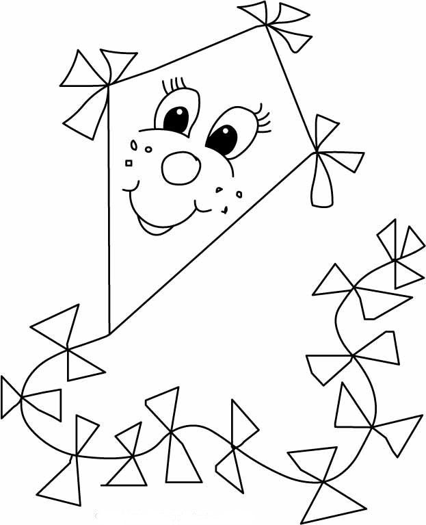 coloring pictures of kite | Coloring Page of Kites