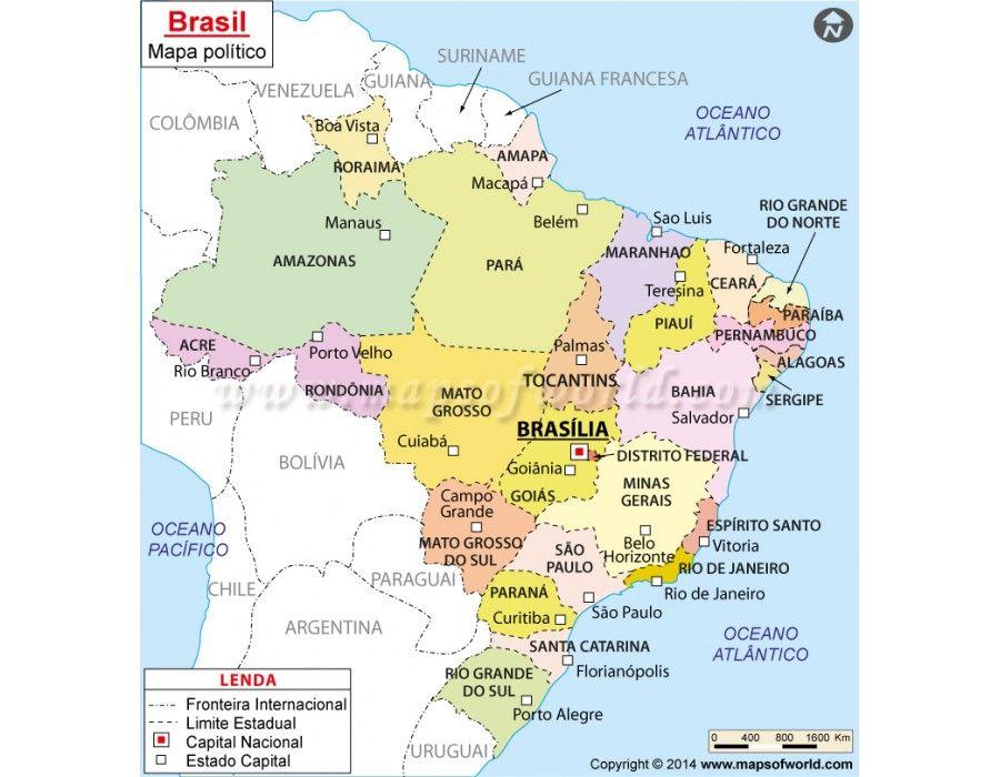 Mapa Brasil Brazil Map in Portuguese Language Buy Brazil Map