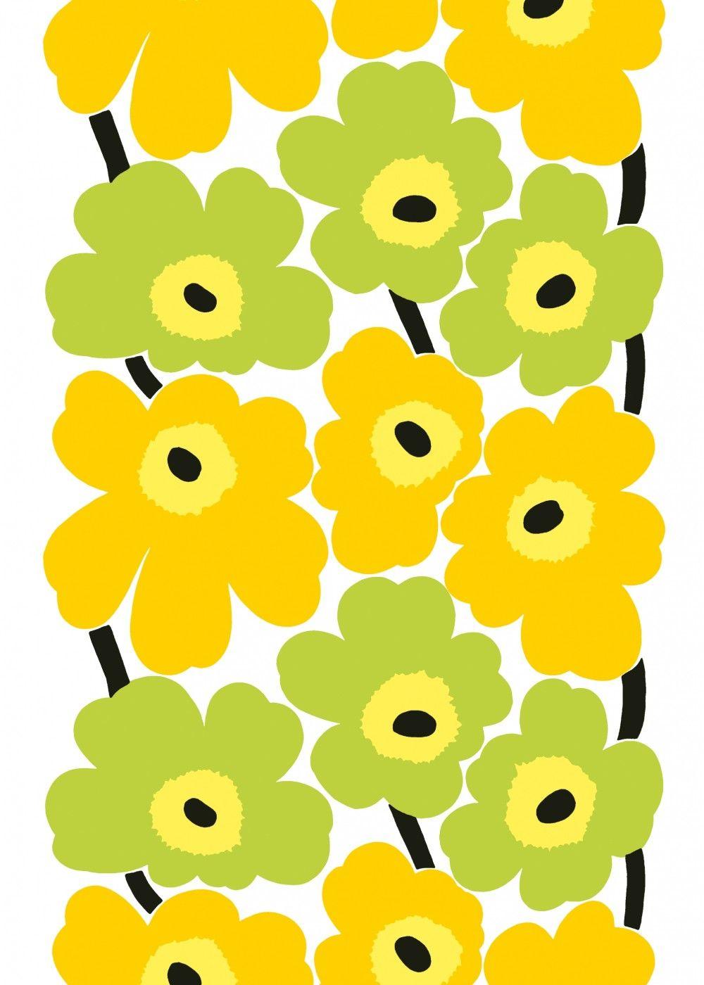 Marimekko Yellow Fabric Bit Of Sunshine Decor