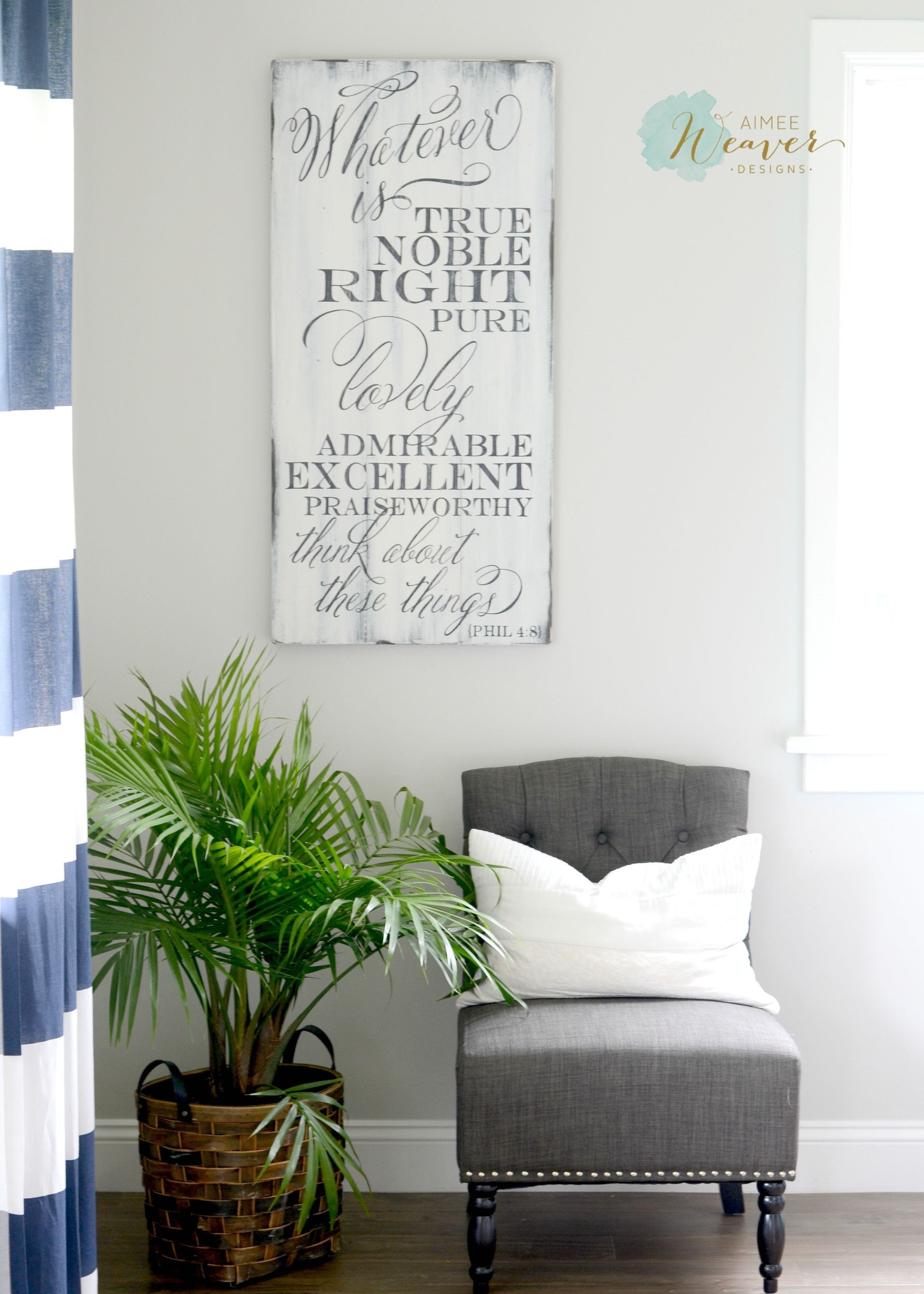 Whatever Is True Noble Right Pure Lovely Admirable Excellent Praiseworthy Think About These Things Diy Home Decor Projects Crafty Decor Wood Artwork