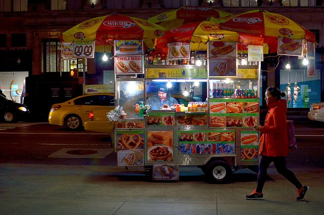 Pretzels and chili dogs | Out for a walk on Fifth Avenue. | Flickr