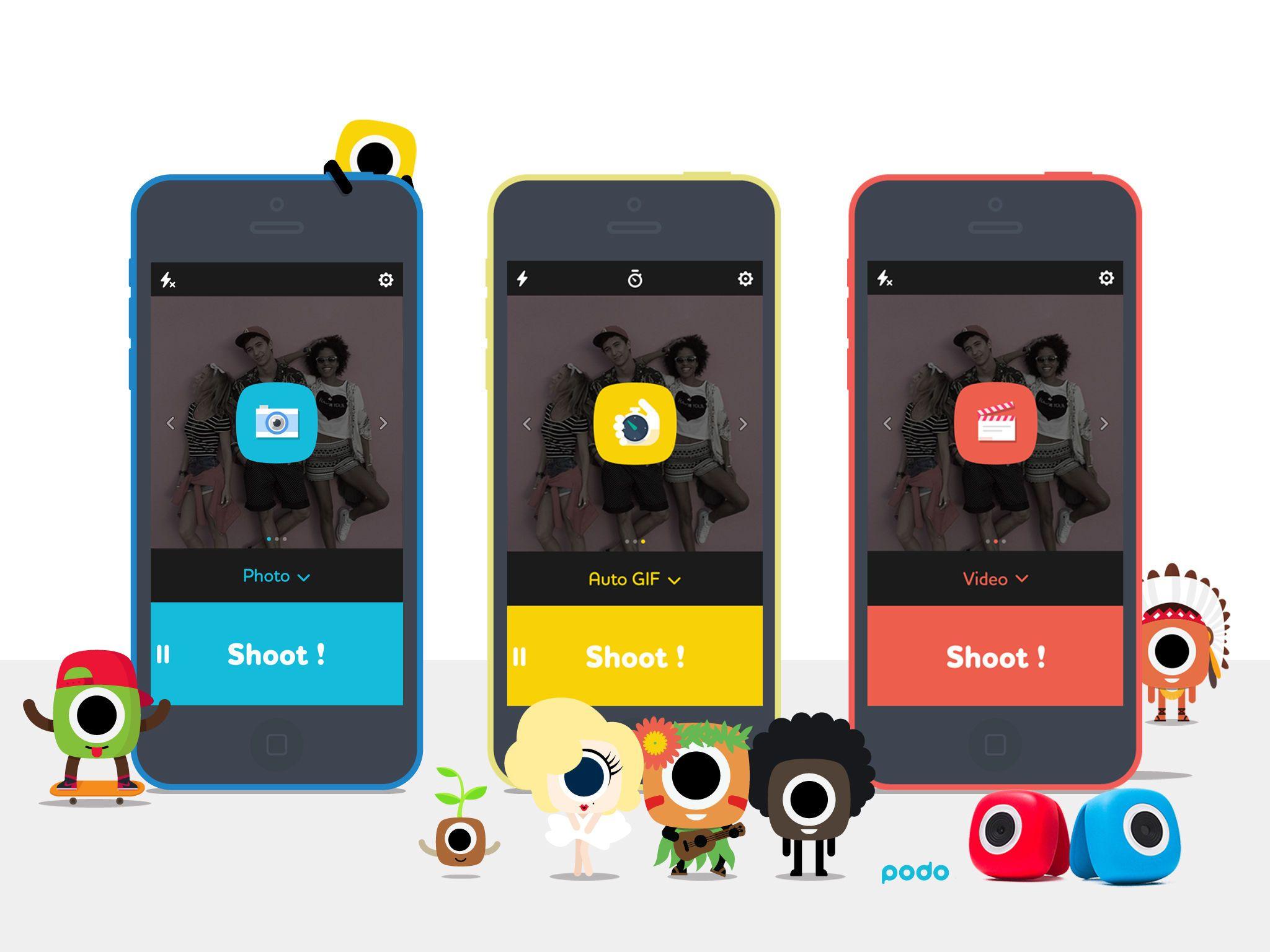 Podo App for Podo Camera Camera, Time lapse photo, App