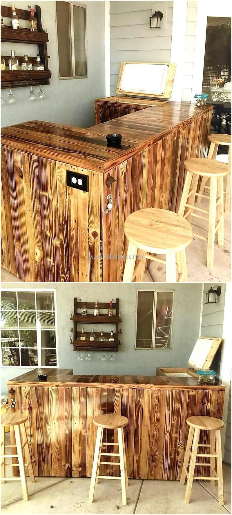 repurposed wood pallet bar | Pallet and recycled wood | Pinterest ...