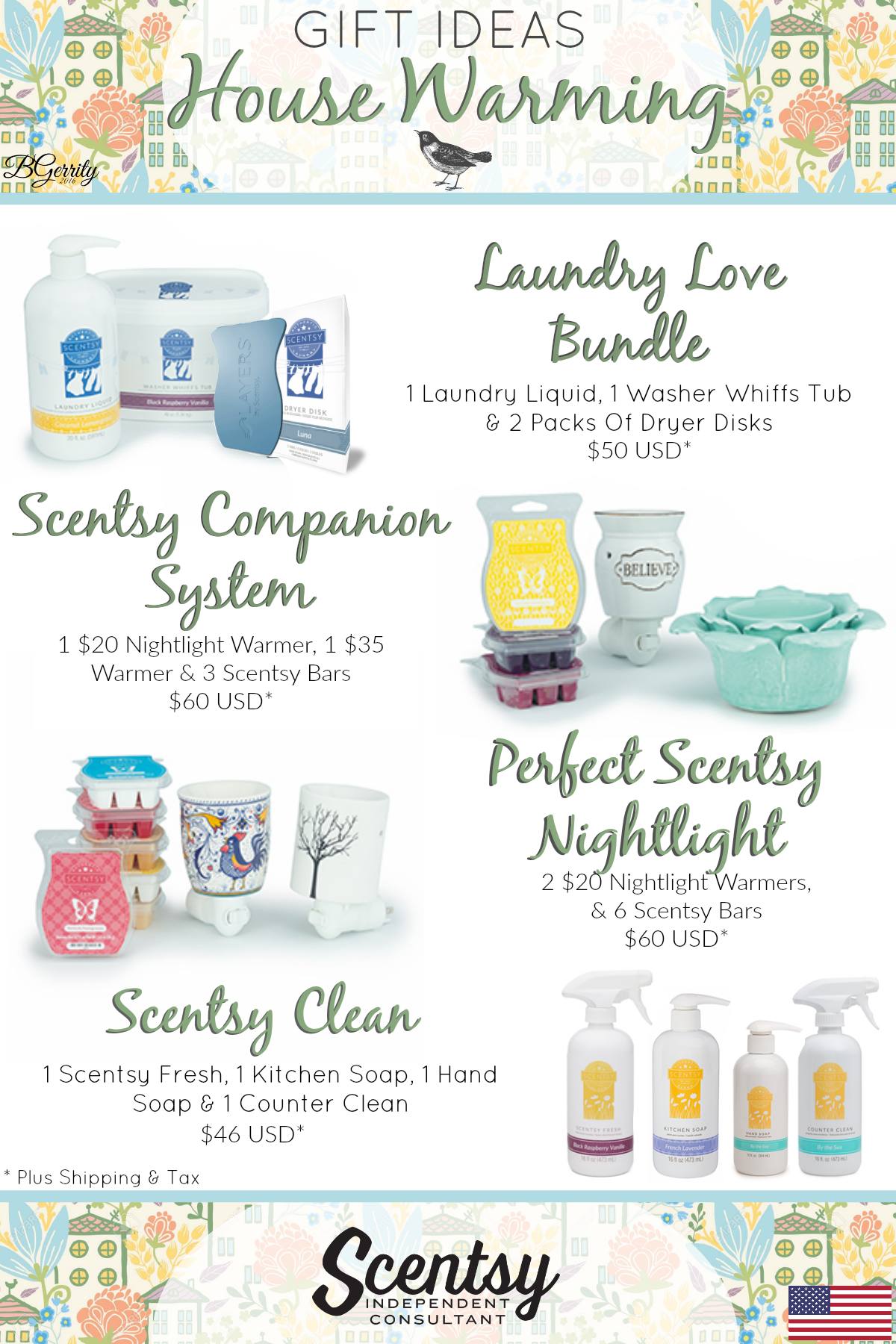 SCENTSY - House Warming Gift Ideas (USD) FLYER CREATED BY BRITTANY ...