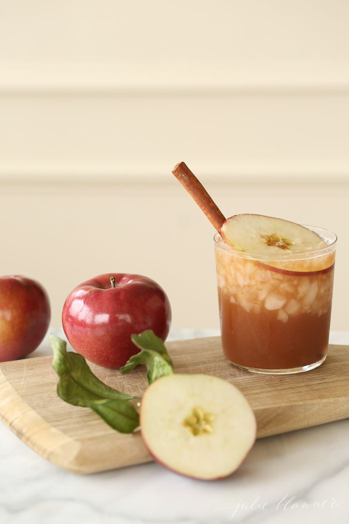 Warm up this Christmas with a cocktail that's always a crowd pleaser - Cinnamon Apple Old Fashion