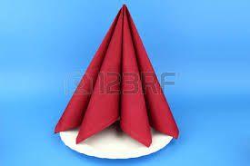 Resultado de imagen de doblar servilletas de papel