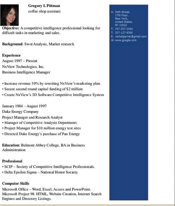 Beste Business Intelligence Beispiel Lebenslauf Bilder ...