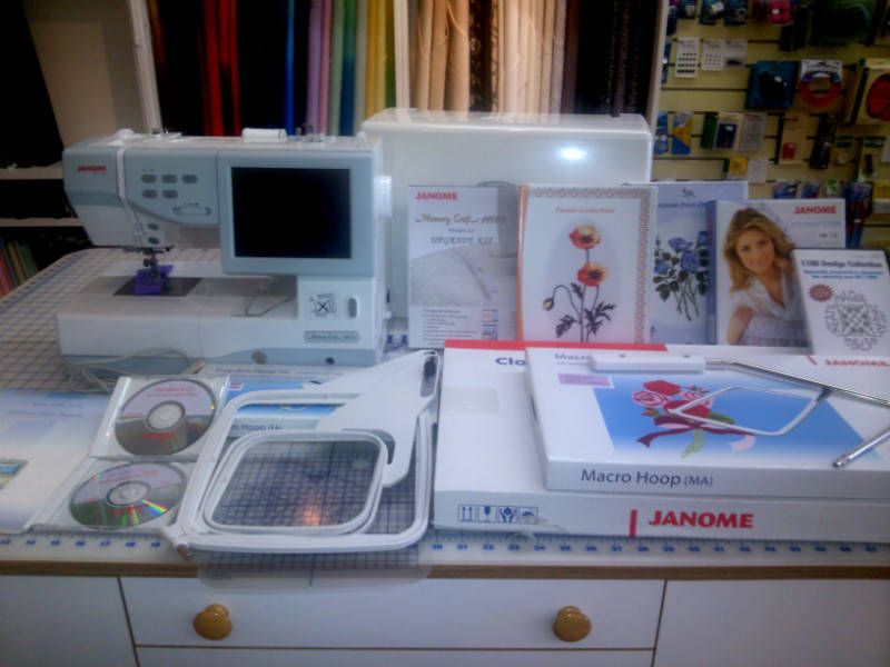 Janome 11000 Sewing Embroidery & Quilting Machine + lots of extras! - For Sale $2800.00 - click for info