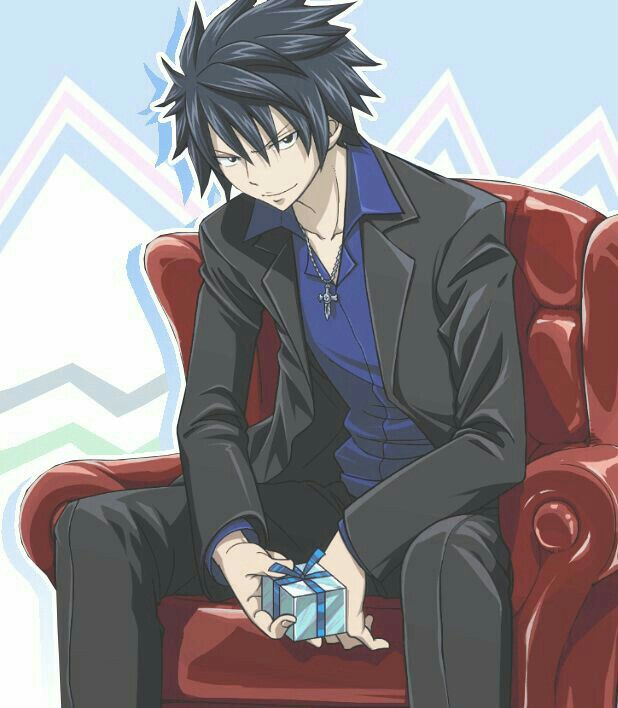 Gray Fullbuster, cool, suit, outfit, present; Fairy Tail
