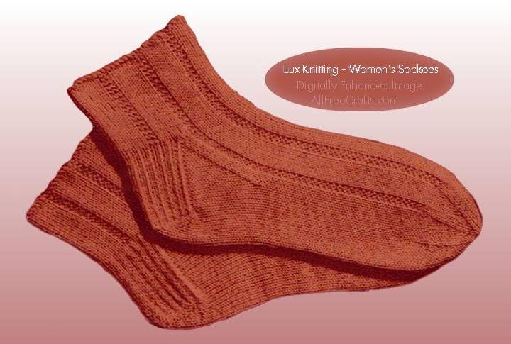 Free Knitting Pattern For Womens Socks Pinterest Socks
