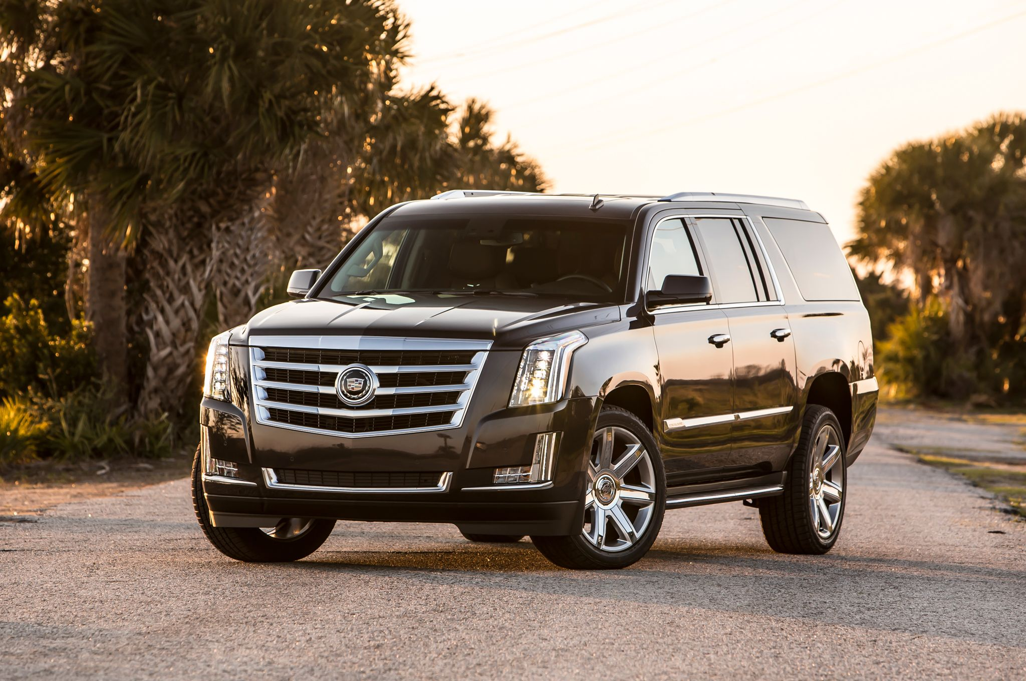 Cadillac escalade esv platinum 5 passenger class at its best contact bay limousine when first class