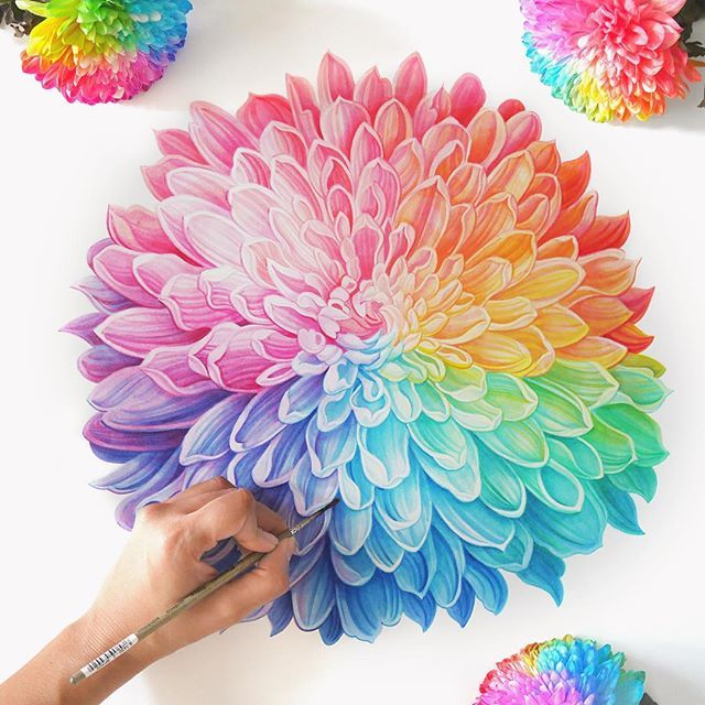 #art #artwork #artist #artistic #painting #painter #flowers #flowermagic #chrysanthemum #summer #rainbow #garden #beauty #beautiful #watercolor #artscloud @arts_help #worldofartists @worldofartists @artscloud #artistic_share @artistic_share #potd #picoftheday #instadaily #instagood #nzart