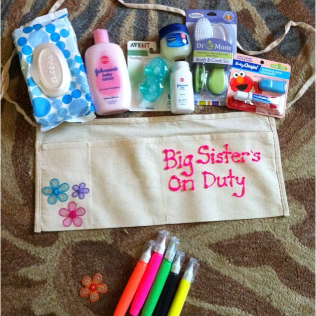 Big Sister shower gift - saw this idea online and made it ...