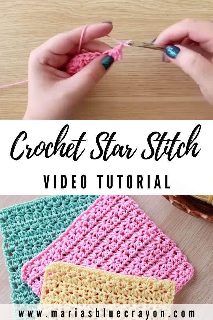 How to Crochet the Star Stitch - Maria's Blue Crayon