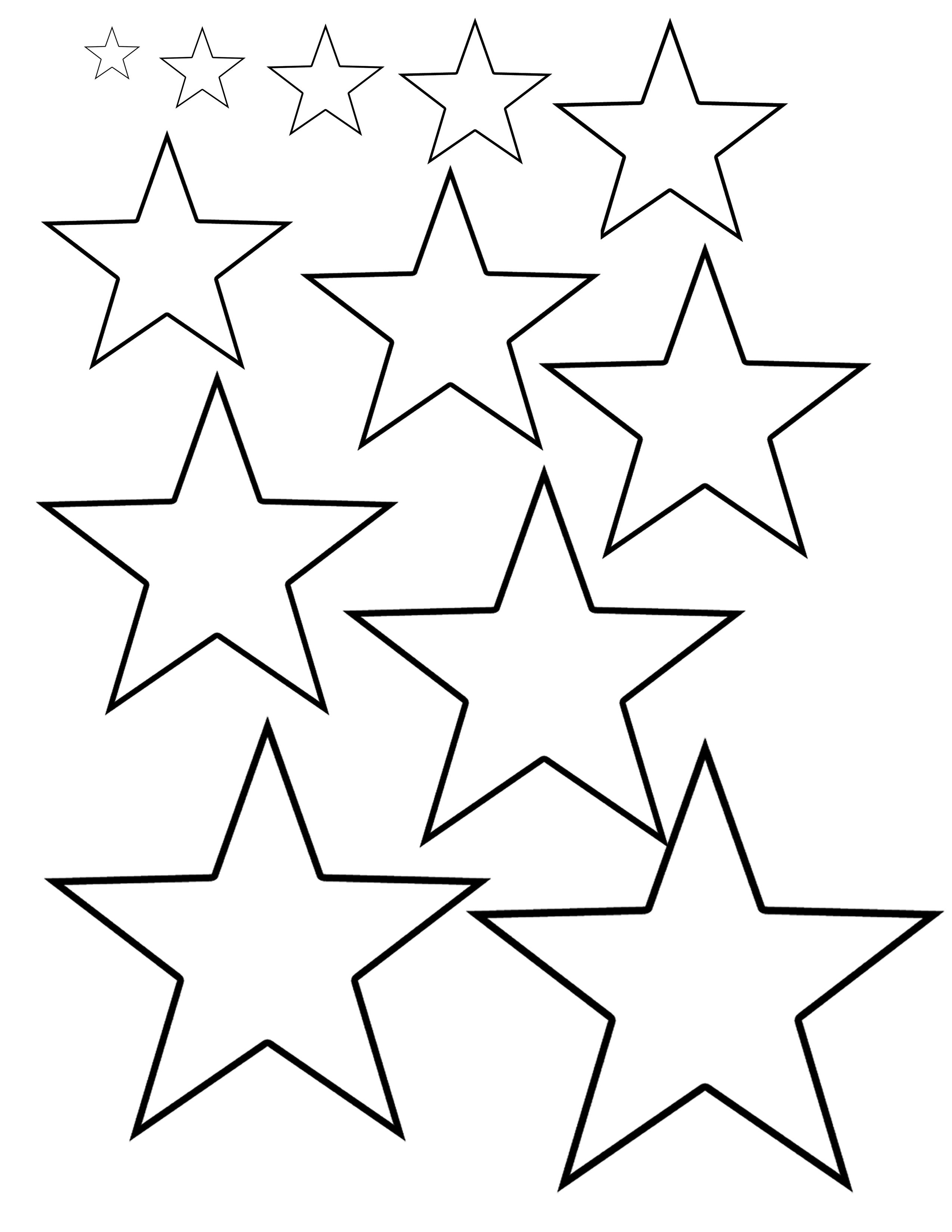 Different Sizes Of Stars Sheet I Made For Tattoo Artists