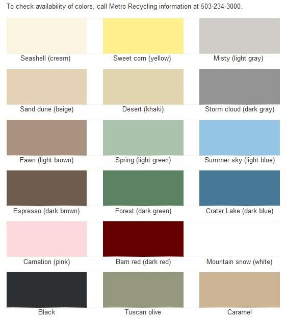 Metro Paint Color Chart For Mixing