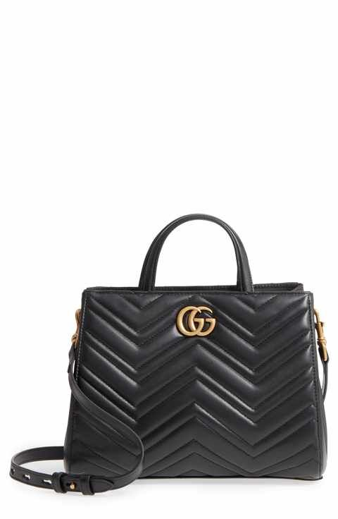 ee6bc827b58 Gucci GG Small Marmont 2.0 Matelassé Leather Top Handle Satchel ...