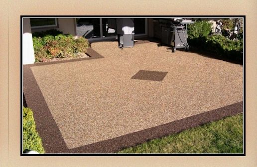 Pebble Stone - I want this for the patio. | Patio flooring ... on Pebble Yard Ideas id=92905