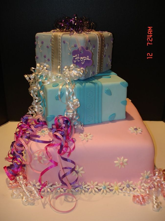 fondant 12 year old girl birthday cake Hopes Present Cakes