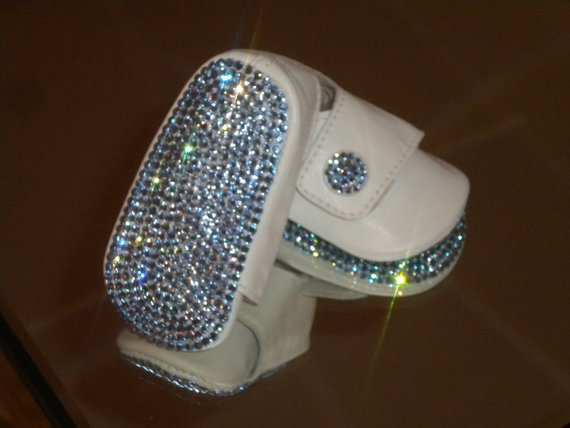 Baby Boys BLING Rhinestone Button Shoes  fa55a05a8928