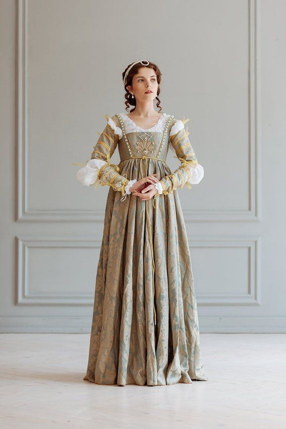 Renaissance Lucrezia Borgia Frau Kleid Set, 15. - 16 ...