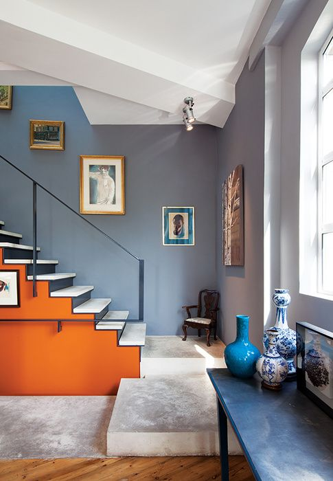 Use color to emphasize the architecture of your stairs Brilliant