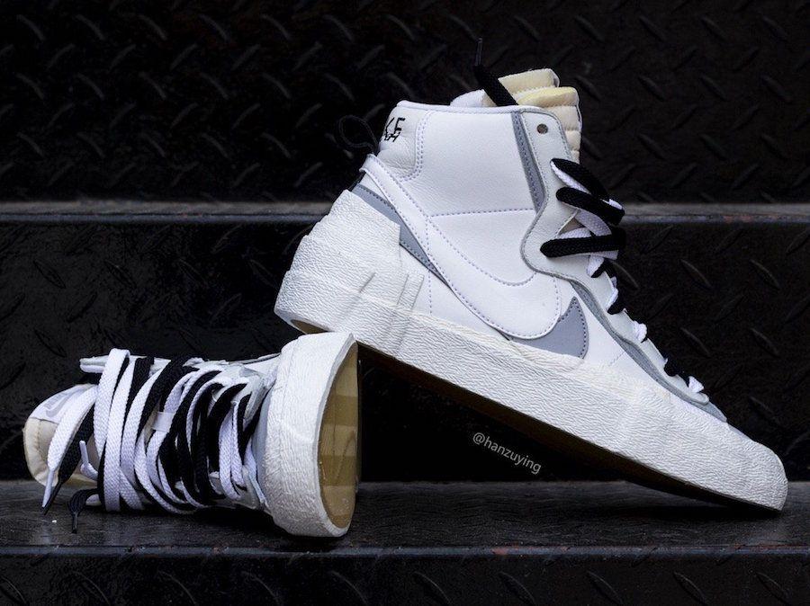 más cerca de venta caliente online descuento especial Sacai Nike Blazer Mid White Wolf Grey BV0072-100 Release Date ...
