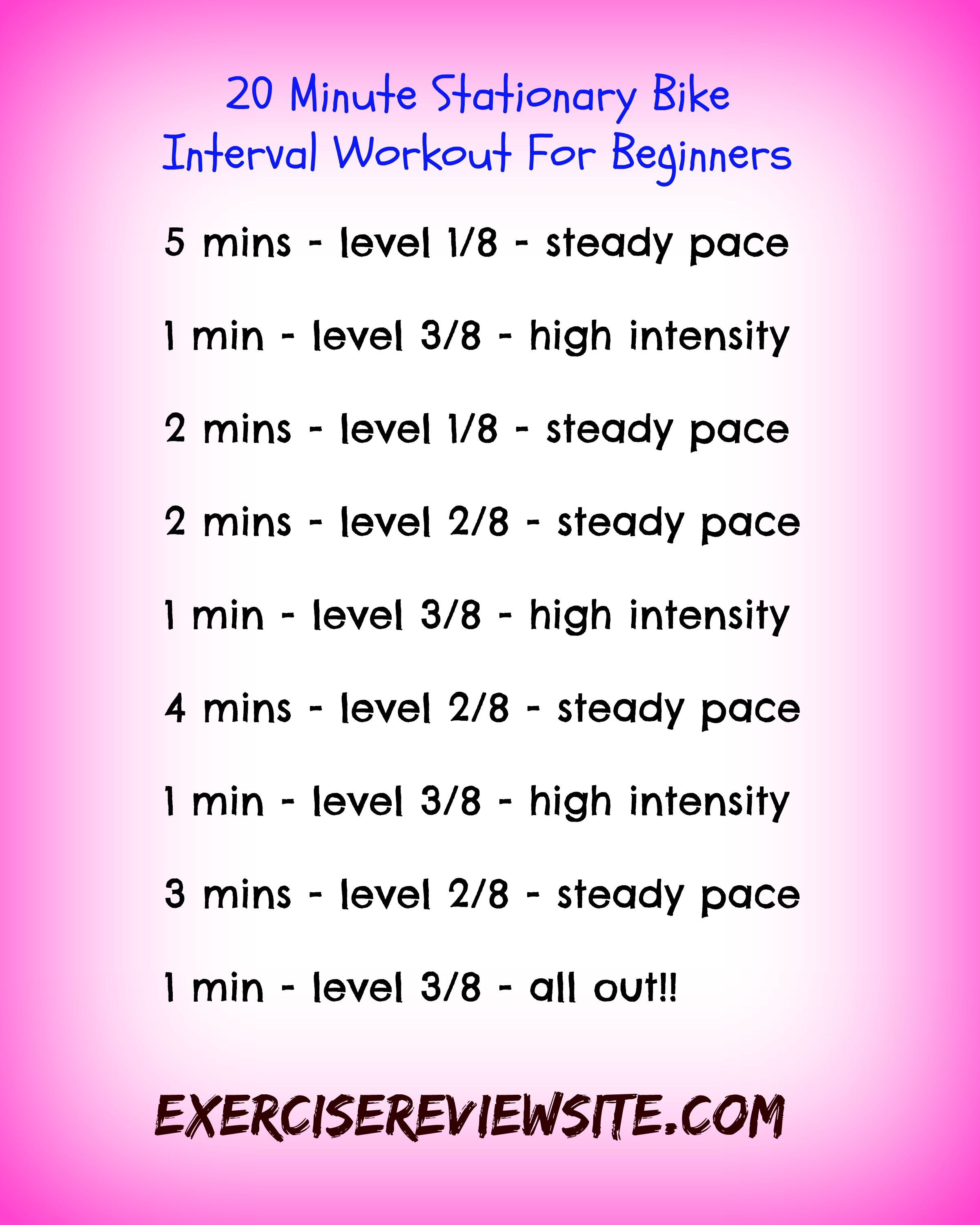 This Is A Short 20 Minute Interval Workout That You Can Do