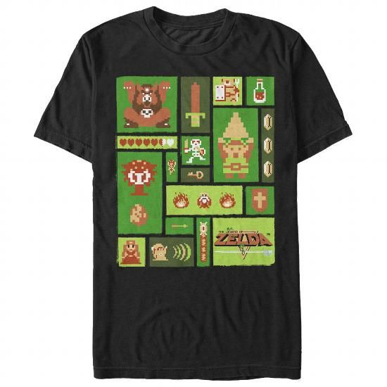 Awesome Tee Pixel Collage Shirts & Tees | Retro and Art Deco ...