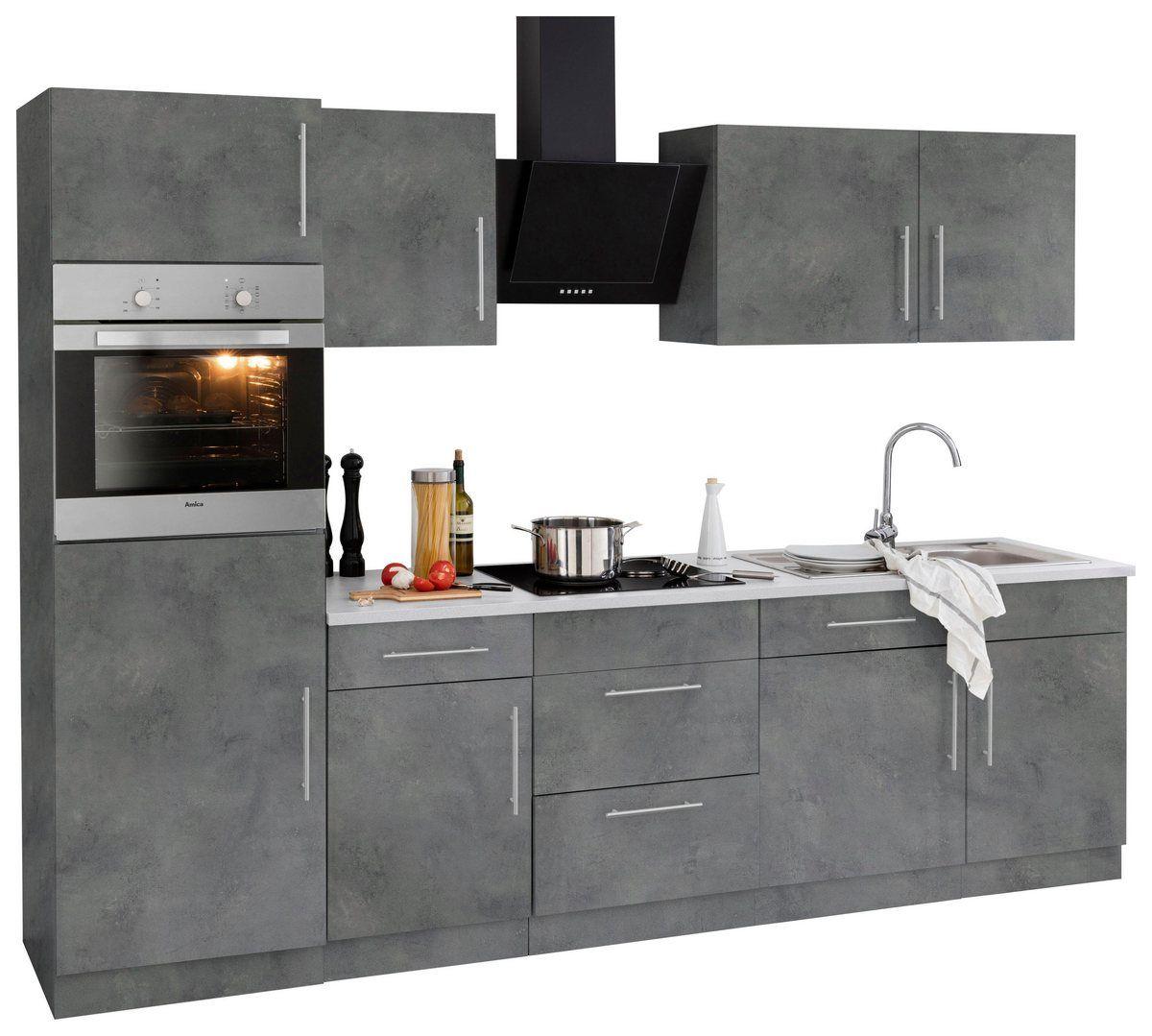 Küchenzeile »Cali«, mit EGeräten, Breite 280 cm Kleine