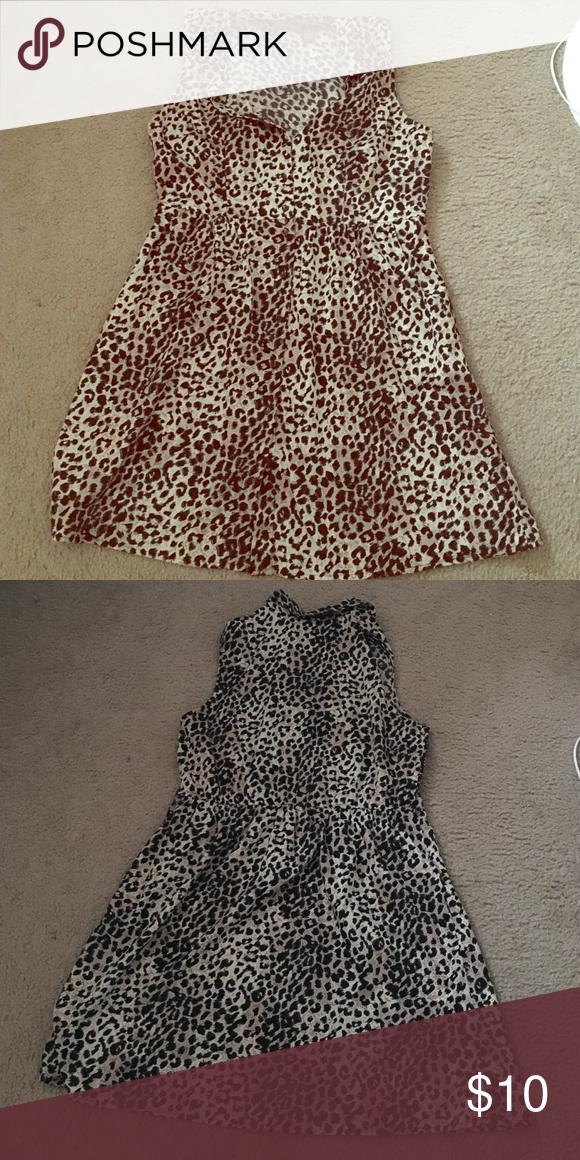 Leopard print summer dress. Sleeveless leopard print dress. Nice for summer. Speed Control New York Dresses Midi