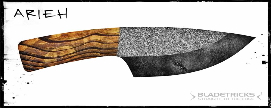 Knife making design of a large outdoor camp blade knife