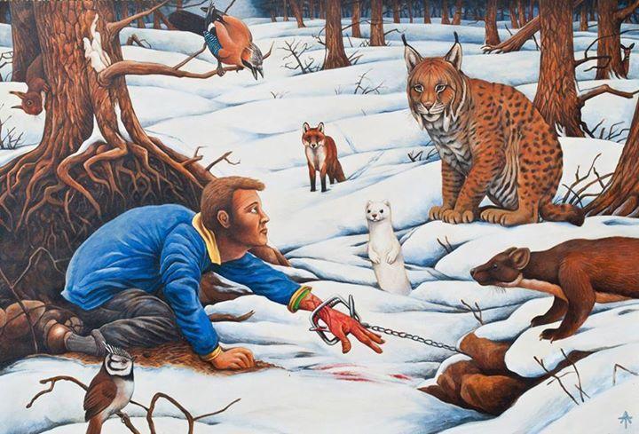Non target species art by Andrew Tilley