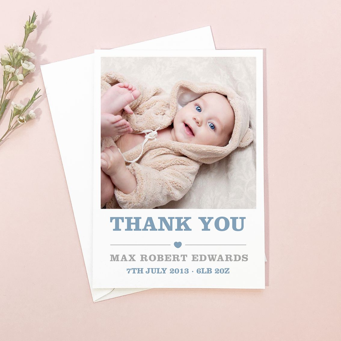 amelia new baby photo thank you cards  new baby products