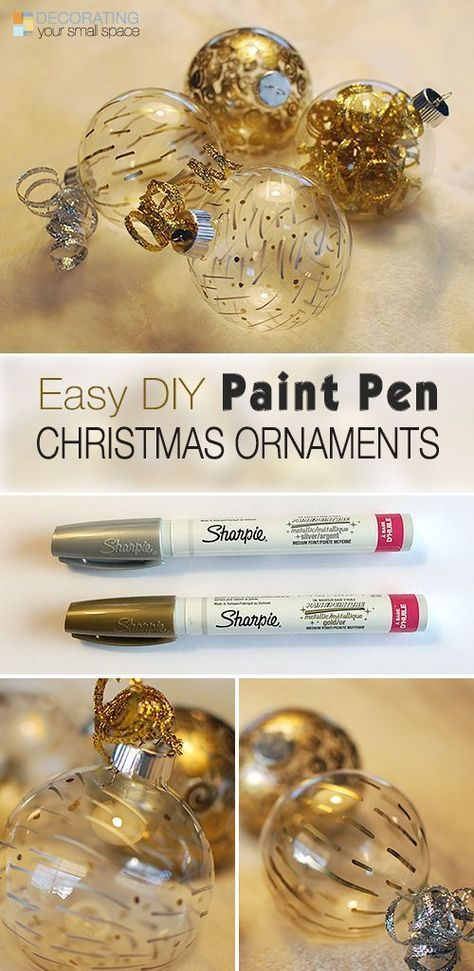 Easy DIY Paint Pen Christmas Ornaments! • Full tutorial showing you just how easy and fun it is to make these gorgeous Christmas ornaments!