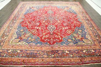 Persian Traditional Vintage Wool 9 5 X 12 Handmade Rugs Oriental Rug Carpet Rugs On Carpet