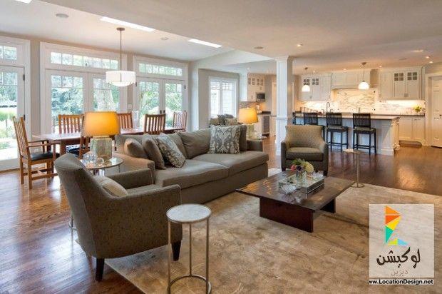 كولكشن مطابخ مفتوحه على الصاله للشقق الحديثة لوكشين ديزين نت Open Concept Living Room Open Living Room Open Floor Plan Kitchen