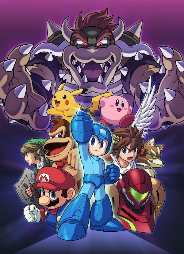 Smash 4 Mega Man Reveal Illustration iphone case