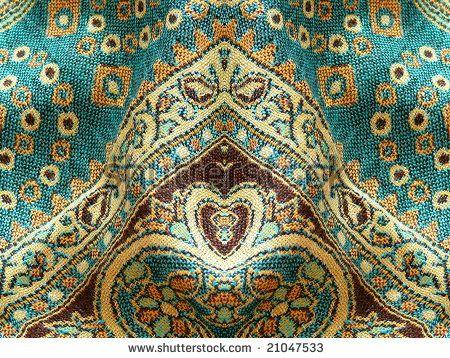 Beautiful Arab Arabic Arabian Arabesque Fabric Background For