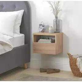 Buy Argos Home Jenson Floating Bedside Table Oak Effect Bedside Tables Argos In 2020 Floating Bedside Table Oak Bedside Tables Bedside Table Small Space
