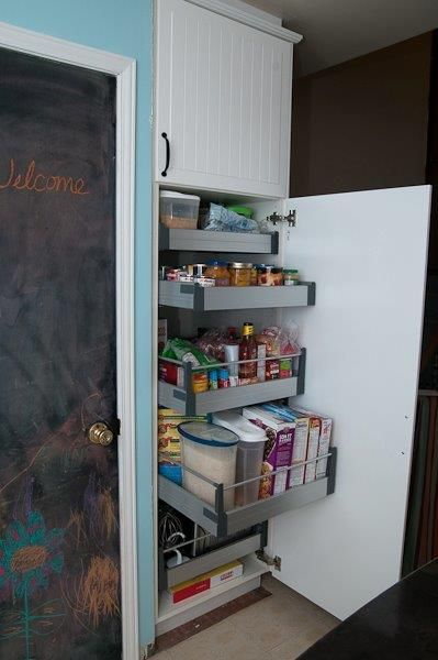 floor to ceiling pantry with pull out shelves from #Ikea