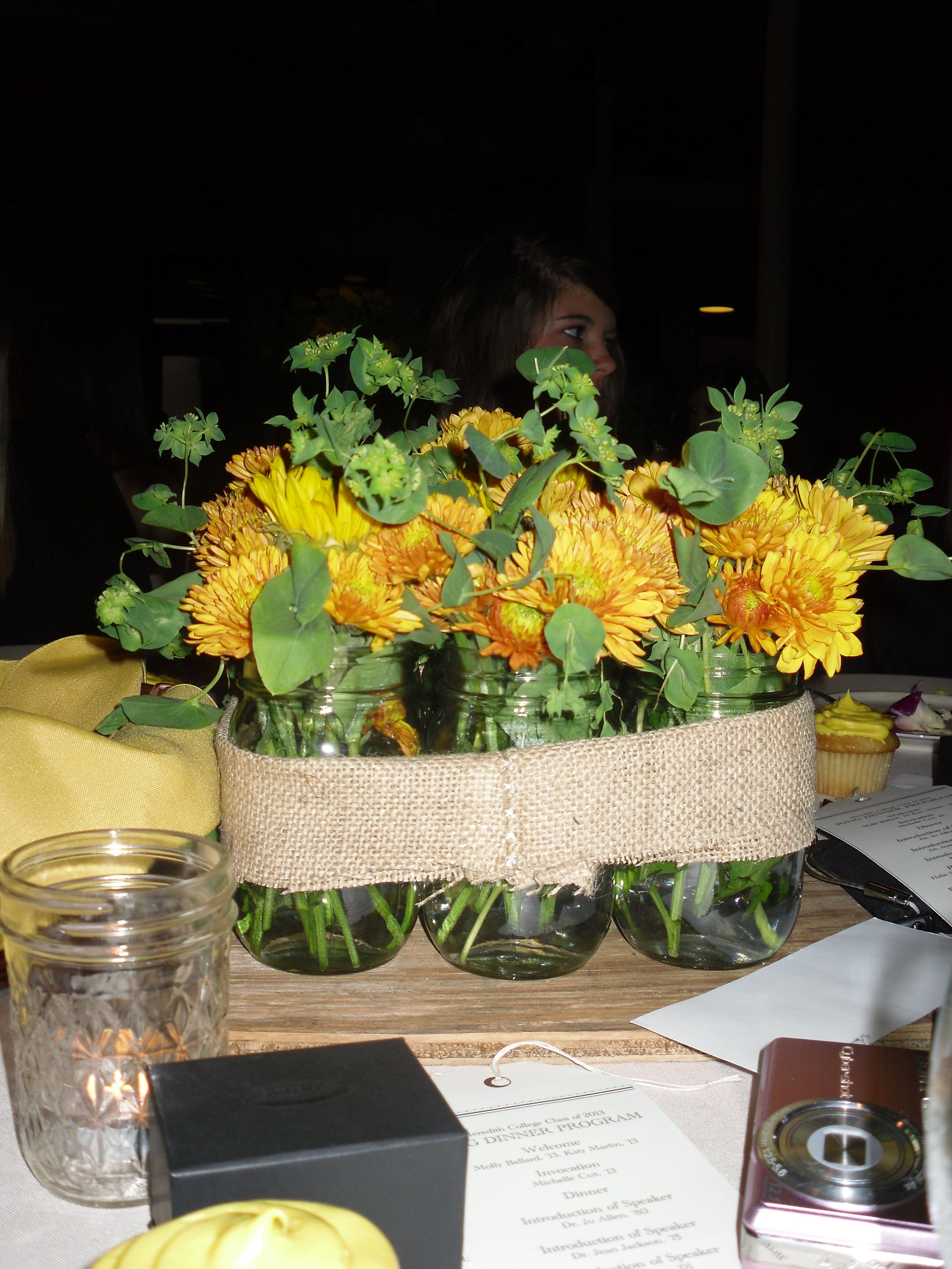 Centerpieces w mason jars wedding ideas pinterest jars mason