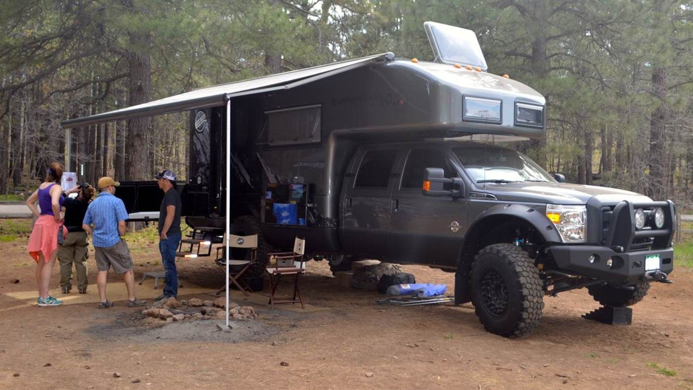 2014 earthroamer xv lts conquers the world tailgates afterward