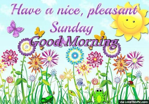 Have A Nice Pleasant Sunday Good Morning Good Morning Sunday Sunday Quotes  Good Morning Quotes Happy Sunday Sunday Quote Happy Sunday Quotes Cute  Sunday ...