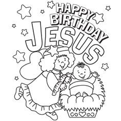 christmas coloring pages secular and a great happy birthday jesus page to color jesus para colorearpginas