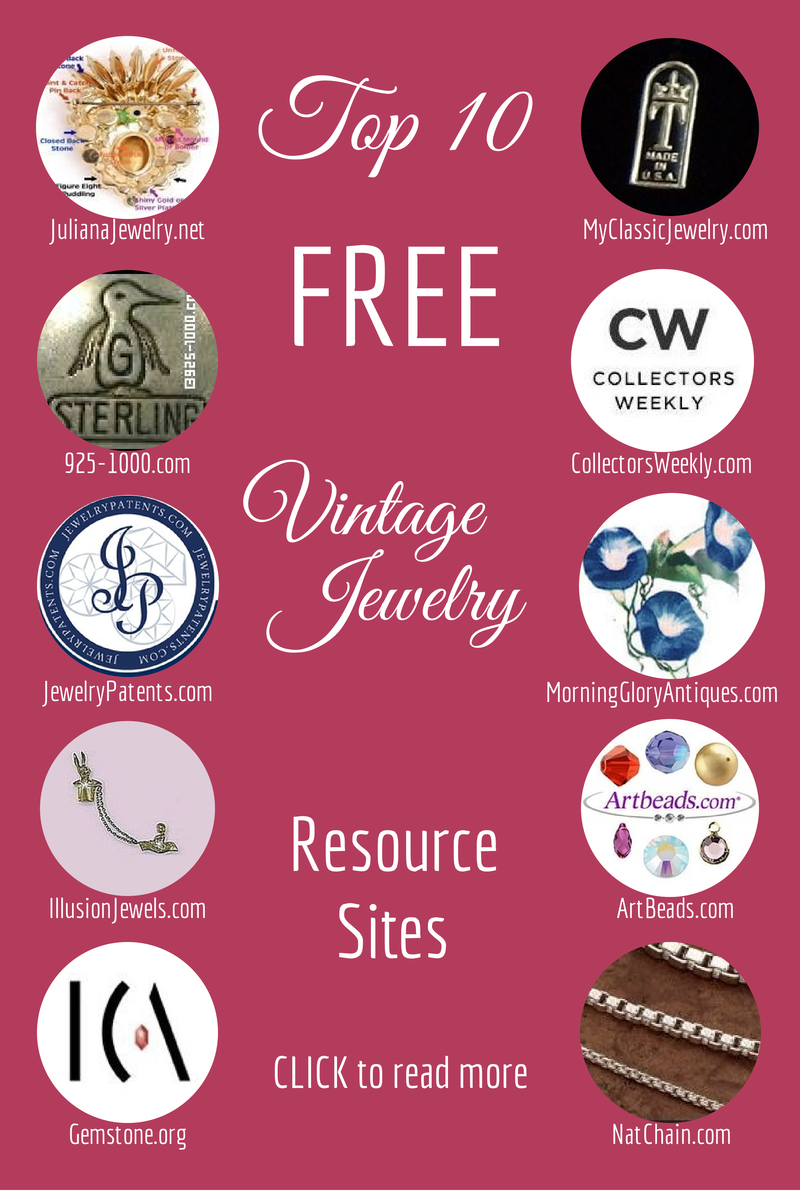 My Top 10 Vintage Jewelry Resource Sites For A