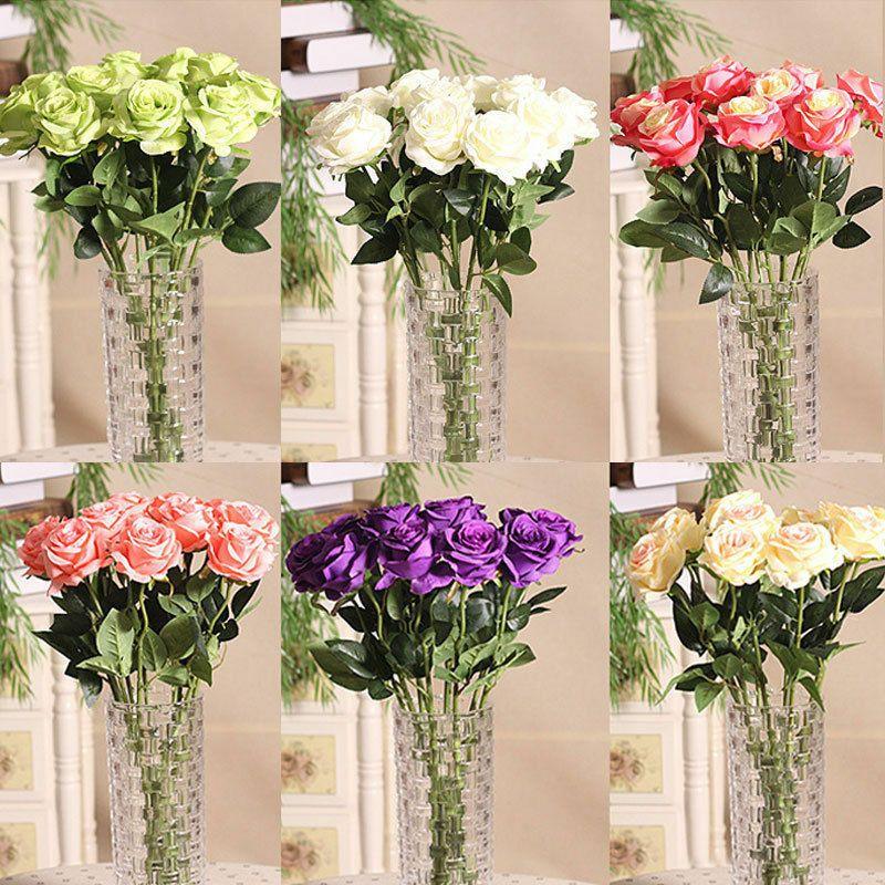 Details About Home Rose Craft Centerpiece Silk Flowers Decor Party
