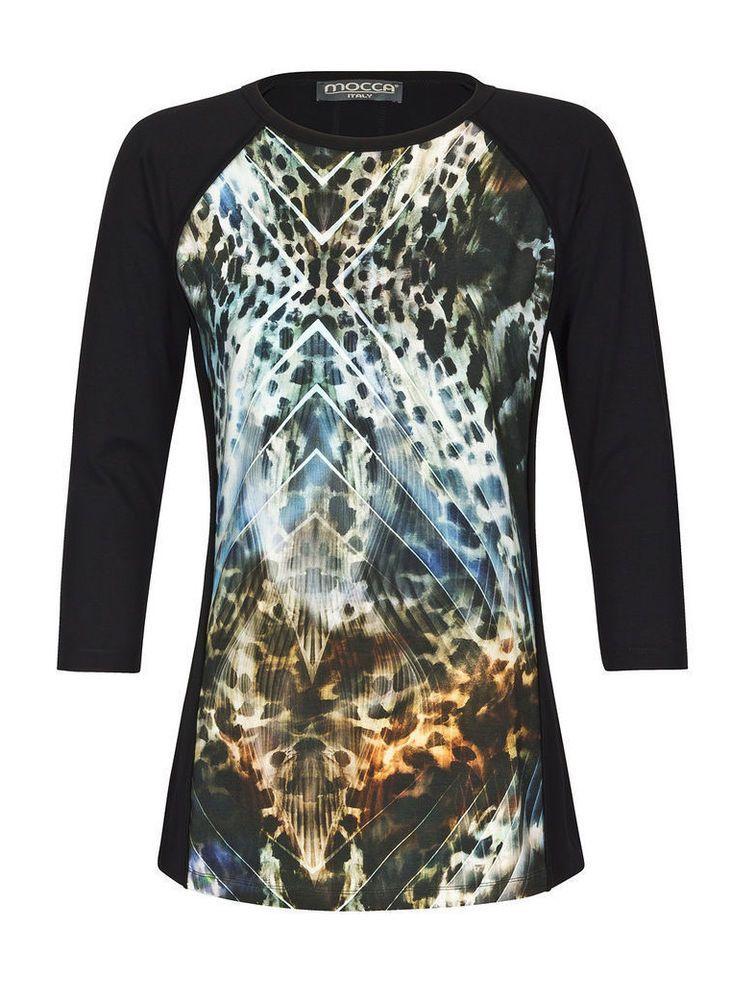 Mocca by J.L.#Damen #Shirt #Druckshirt #Animaldesign Neu Gr